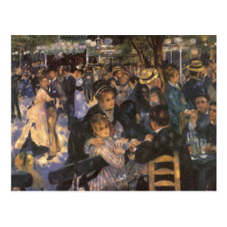 Dance at Le Moulin de la Galette by Pierre Renoir Postcard