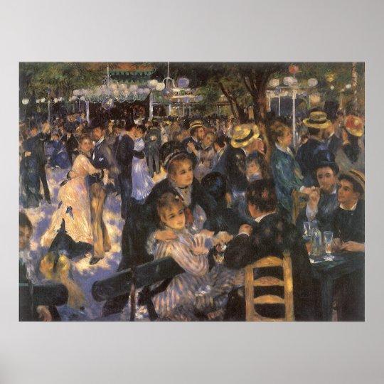 Dance at Le Moulin de la Galette by Pierre Renoir Poster
