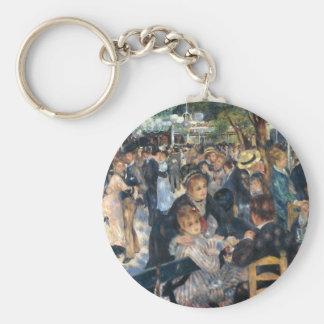 Dance at Le Moulin de la Galette by Renoir Basic Round Button Keychain