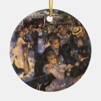 Dance at Le Moulin de la Galette by Renoir Double-Sided Ceramic Round Christmas Ornament