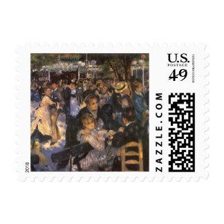 Dance at Le Moulin de la Galette by Renoir Postage Stamp
