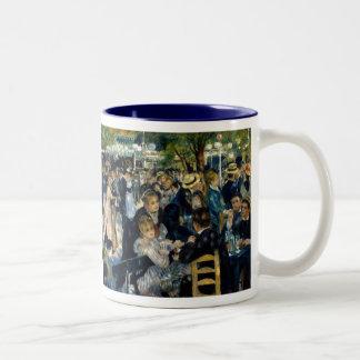 Dance at Le Moulin de la Galette by Renoir Two-Tone Coffee Mug