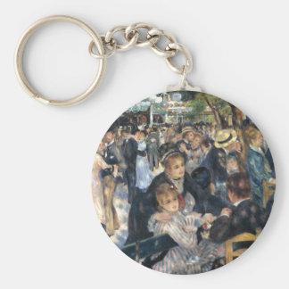 Dance at Le moulin de la Galette, Renoir Basic Round Button Keychain
