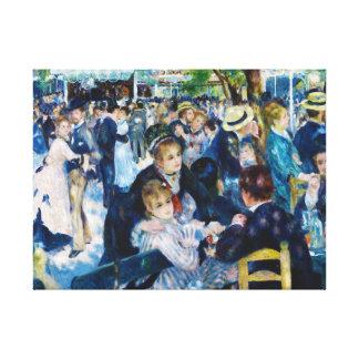 Dance at the Moulin de la Galette Auguste Renoir Canvas Print