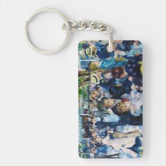 Dance at the Moulin de la Galette Auguste Renoir Double-Sided Rectangular Acrylic Keychain