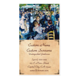 Dance at the Moulin de la Galette Auguste Renoir Double-Sided Standard Business Cards (Pack Of 100)