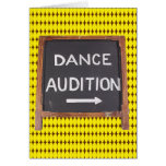 Dance Audition Card