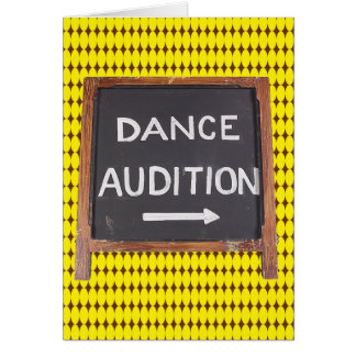Dance Audition Card