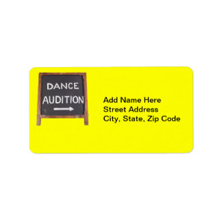 Dance Audition Address Label