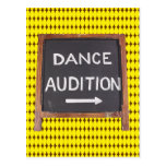 Dance Audition Post Cards