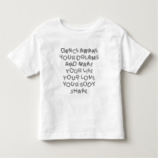 Dance Awake (steps) Toddler T-shirt