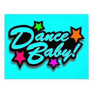 DANCE BABY BABYBLUE 4.25X5.5 PAPER INVITATION CARD