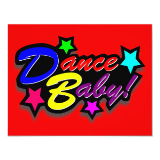 DANCE BABY MIXED 4.25X5.5 PAPER INVITATION CARD