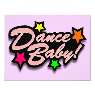 DANCE BABY PINK 4.25X5.5 PAPER INVITATION CARD