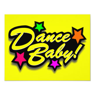 DANCE BABY YELLOW 4.25X5.5 PAPER INVITATION CARD