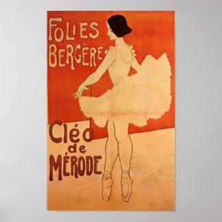 Dance Ballerina Art Nouveau Ballet Dancer Poster