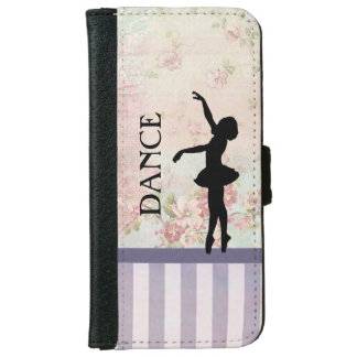 Dance - Ballerina Silhouette on Vintage Background iPhone 6/6s Wallet Case
