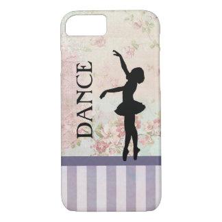 Dance - Ballerina Silhouette on Vintage Background iPhone 8/7 Case