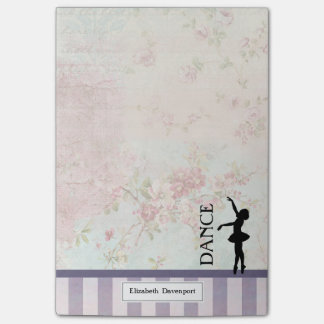 Dance - Ballerina Silhouette on Vintage Background Post-it Notes