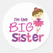 Dance Ballet Big Sister Classic Round Sticker