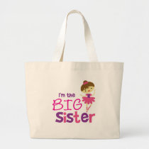 Dance Ballet Big Sister Large Tote Bag