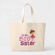 Dance Ballet Big Sister Large Tote Bag