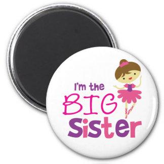 Dance Ballet Big Sister 2 Inch Round Magnet
