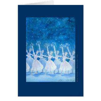 Dance ballet greeting card of spirit of snow