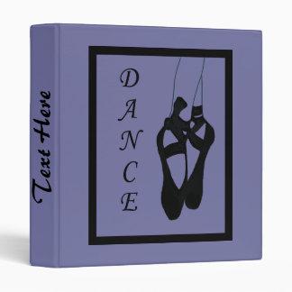 "Dance Ballet Shoes En Pointe 1"" Binder"