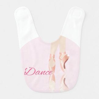 Dance Ballet Slippers Bib