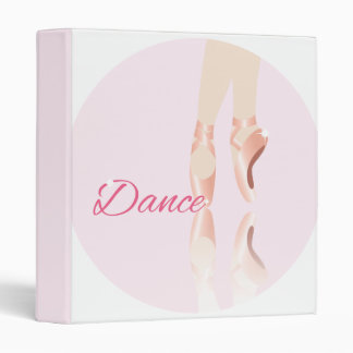 Dance Ballet Slippers Binder
