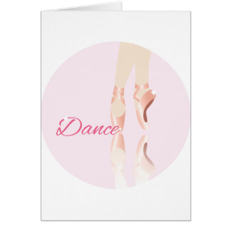 Dance Ballet Slippers Greeting Card