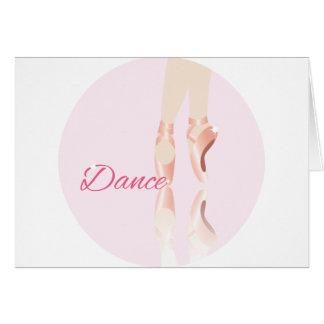 Dance Ballet Slippers Card