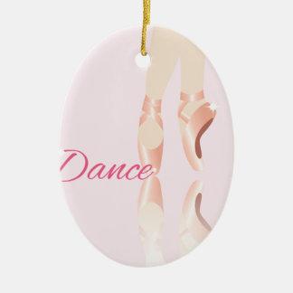 Dance Ballet Slippers Ceramic Ornament