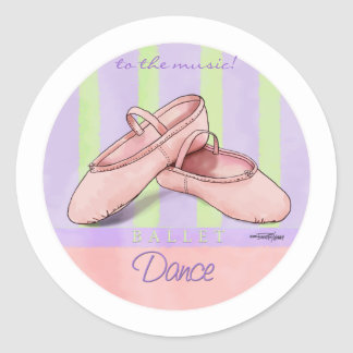 Dance - Ballet Slippers Classic Round Sticker