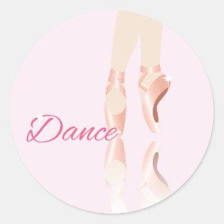 Dance Ballet Slippers Classic Round Sticker