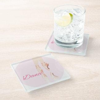 Dance Ballet Slippers Glass Coaster