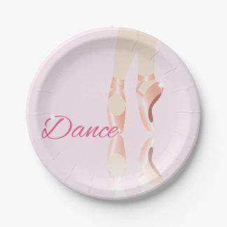 Dance Ballet Slippers Paper Plate