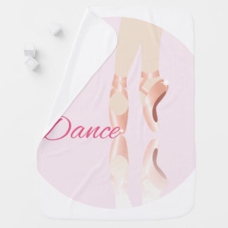 Dance Ballet Slippers Stroller Blanket