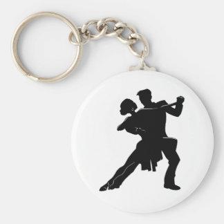Dance Basic Round Button Keychain