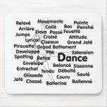 Dance Blk Ltrs ballet dancer 75 background Mouse Pads