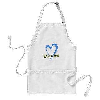 Dance blue heart adult apron
