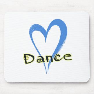 Dance blue heart mouse pad