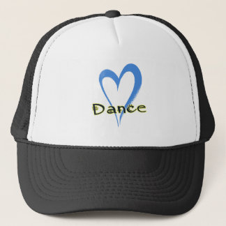 Dance blue heart trucker hat