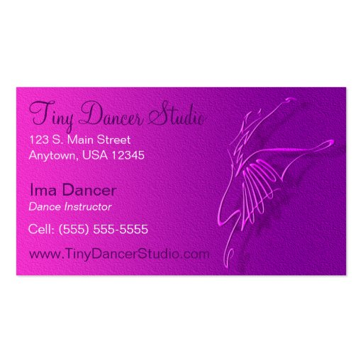 Dance business card zazzle for Dance business cards