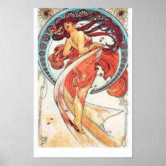 Dance by Alphonse Mucha Poster
