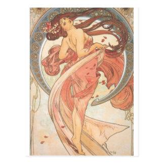 Dance by Mucha Postcard