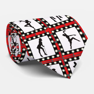 Dance Cabaret Showgirls Dancing Print Tie