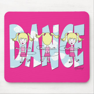Dance Cartoon Girl Mouse Pad