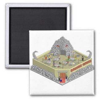 Dance Cave 2 Inch Square Magnet